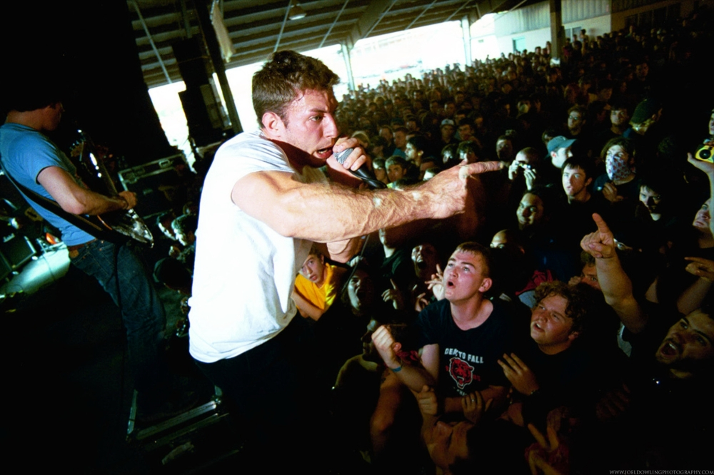 The Dillinger Escape Plan live at Hellfest 2003.  Syracuse, New York.