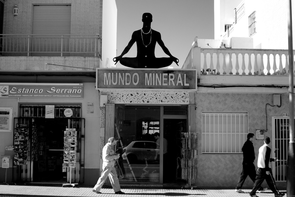 A gem and mineral store in Tarifa, Spain.  Very hippie, very far out.  Tarifa, Spain.