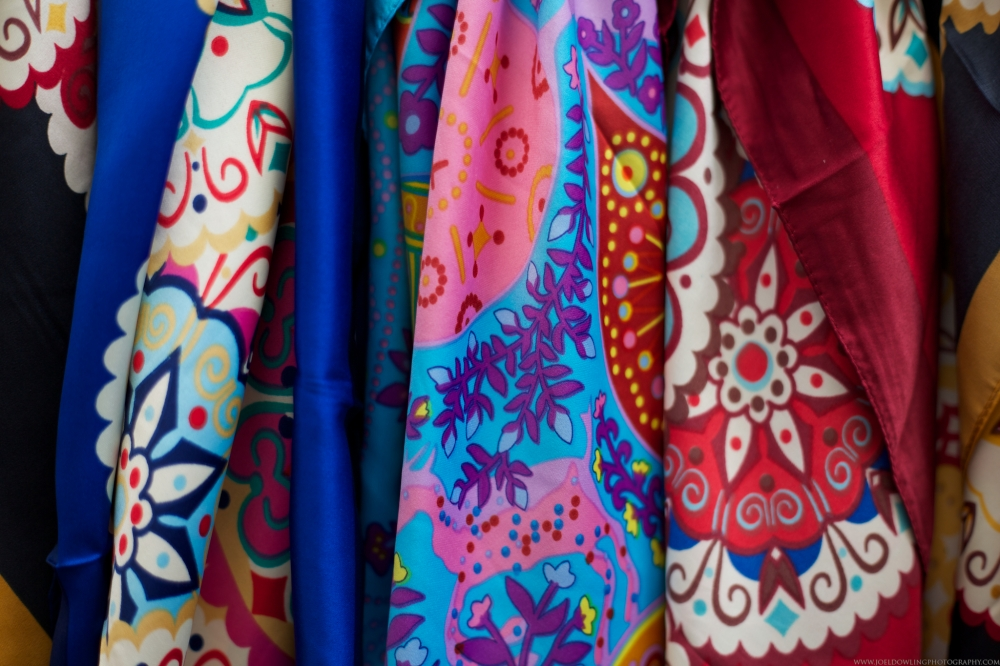 Fabric for sale in Tarifa, Spain.