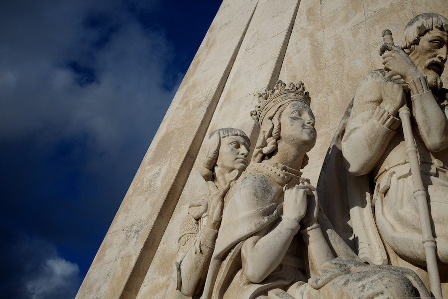 One of the many statues on the Padrão dos Descobrimentos. Lisbon, Portugal.